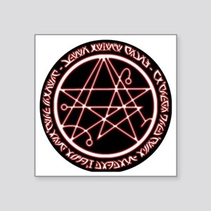"Alien Necronomicon Sigil Square Sticker 3"" x 3"""