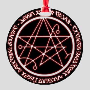 Alien Necronomicon Sigil Round Ornament