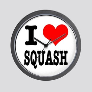 I Heart (Love) Squash Wall Clock