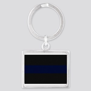 Police Carbon Fiber Thin Blue Line Keychains