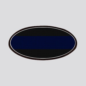 Police Carbon Fiber Thin Blue Line Patches