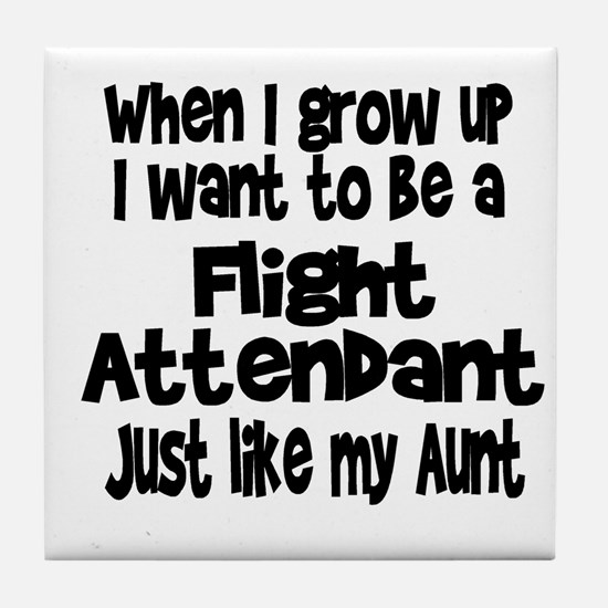 WIGU Flight Attendant Aunt Tile Coaster