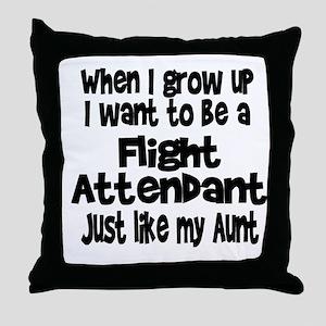 WIGU Flight Attendant Aunt Throw Pillow