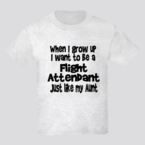 WIGU Flight Attendant Aunt Kids Light T-Shirt