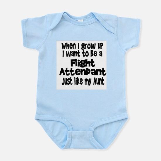 WIGU Flight Attendant Aunt Infant Bodysuit