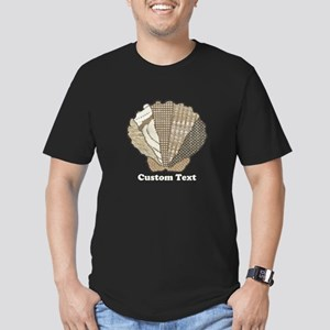 Customizable Scallop Seashell Fabric Collage T-Shi