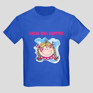 New Big Sister (blond) Kids Dark T-Shirt