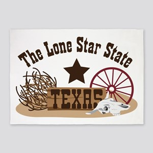 The Lone Star State TEXAS 5'x7'Area Rug