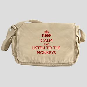 Keep calm and listen to the Monkeys Messenger Bag