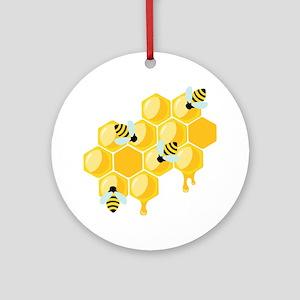 Honey Beehive Ornament (Round)