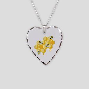 Honey Beehive Necklace