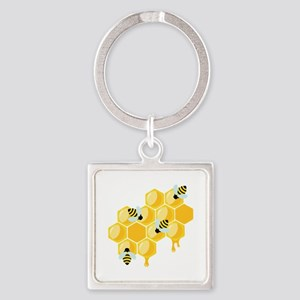Honey Beehive Keychains