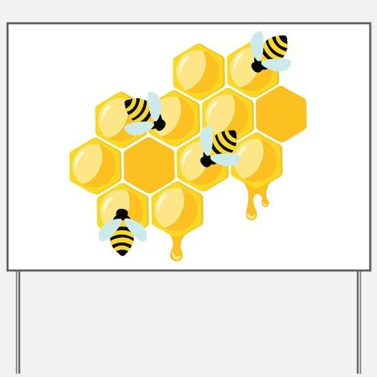 Honey Beehive Yard Sign