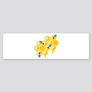 Honey Beehive Bumper Sticker