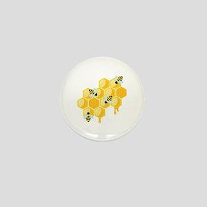 Honey Beehive Mini Button