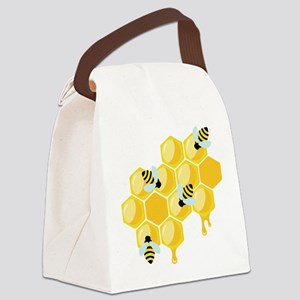 Honey Beehive Canvas Lunch Bag