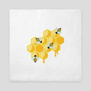Honey Beehive Queen Duvet