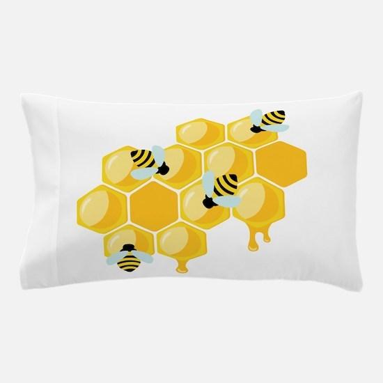 Honey Beehive Pillow Case