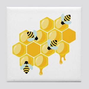 Honey Beehive Tile Coaster