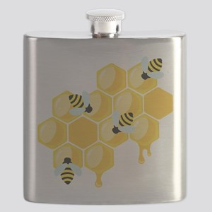 Honey Beehive Flask