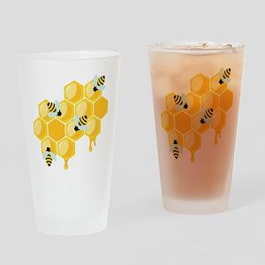 Honey Beehive Drinking Glass