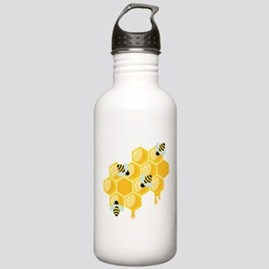 Honey Beehive Water Bottle