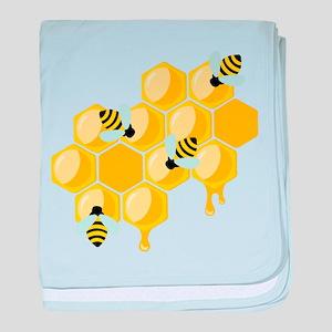 Honey Beehive baby blanket