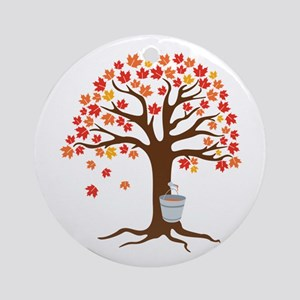 Maple Syrup Tree Ornament (Round)