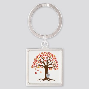 Maple Syrup Tree Keychains