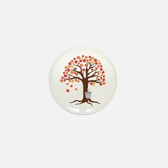 Maple Syrup Tree Mini Button