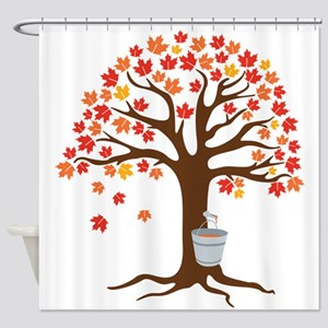 Maple Syrup Tree Shower Curtain