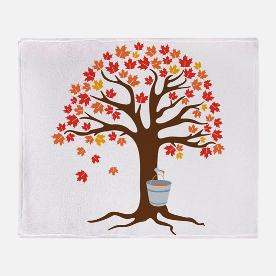 Maple Syrup Tree Throw Blanket