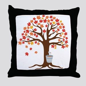Maple Syrup Tree Throw Pillow
