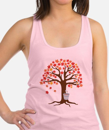 Maple Syrup Tree Racerback Tank Top