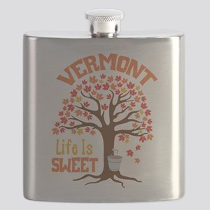 VERMONT Life Is SWEET Flask