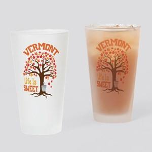 VERMONT Life Is SWEET Drinking Glass