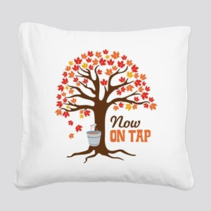 Now ON TAP Square Canvas Pillow