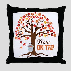 Now ON TAP Throw Pillow