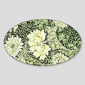 Morris - Chrysanthemum Sticker (Oval)