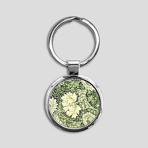 Morris - Chrysanthemum Round Keychain