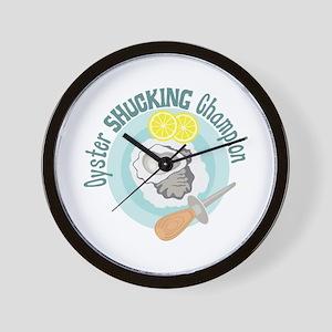 Oyster SHUCKING Champion Wall Clock