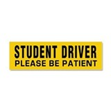 "Student driver 3"" x 10"""