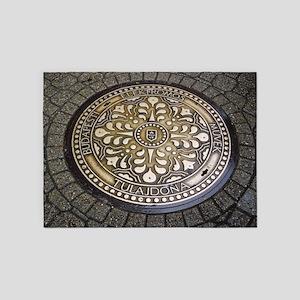 manhole covers, budapest, 5'x7'Area Rug