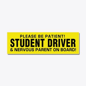 Student Driver And Parent Car Magnet 10 X 3