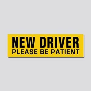 New Driver - Be Patient Car Magnet 10 X 3