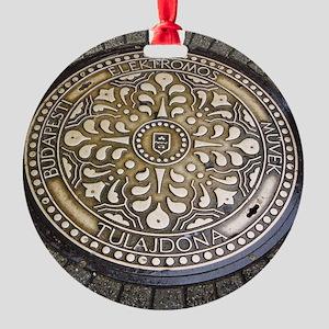 manhole covers, budapest, Ornament