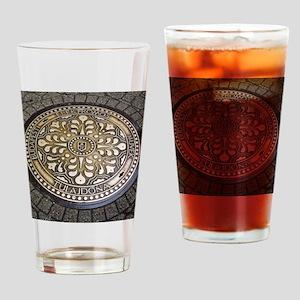 manhole covers, budapest, Drinking Glass
