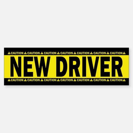 New Driver! Caution! (bumper) Bumper Bumper Bumper Sticker
