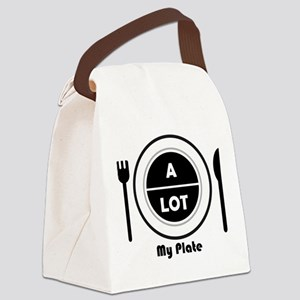 My Plate Canvas Lunch Bag