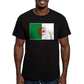 Algeria Flag Men's Fitted T-Shirt (dark)